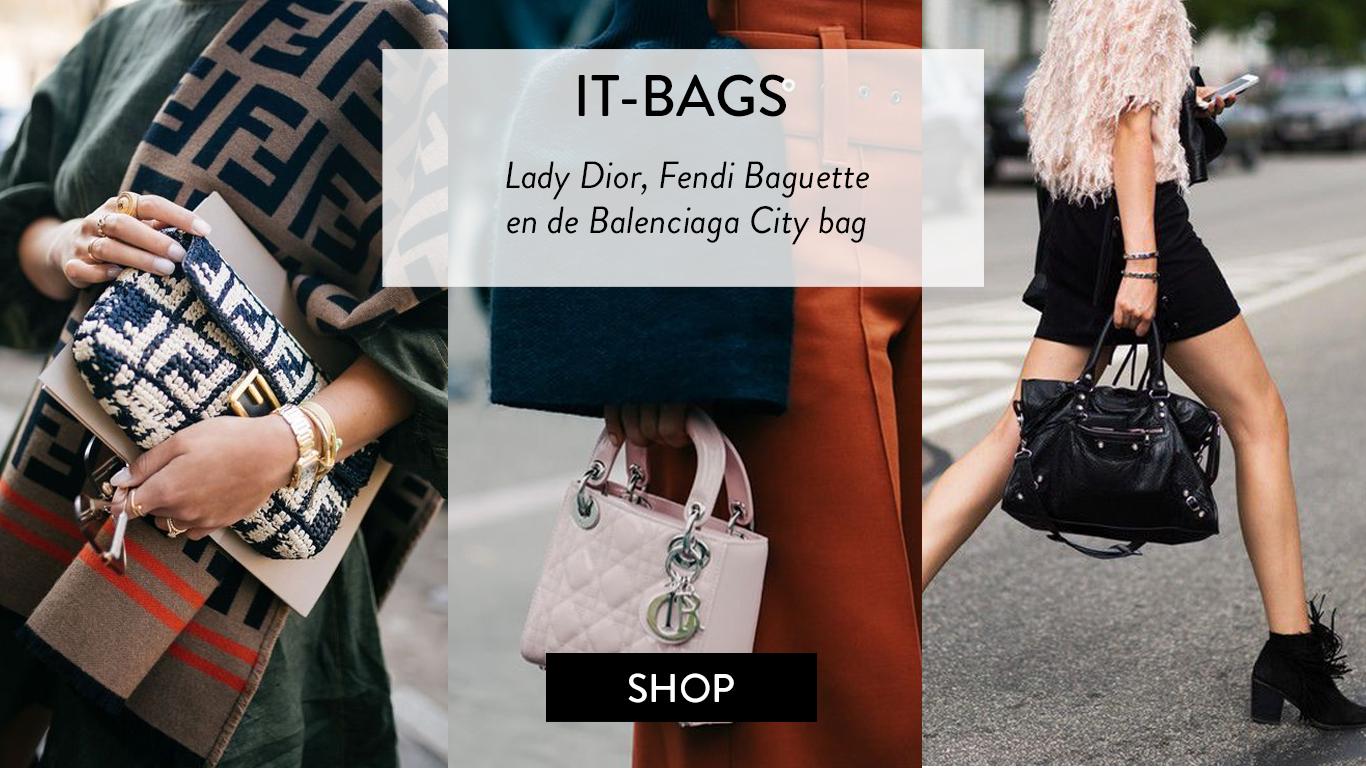 Tweedehands it-bags van Hermès Kelly, Dior Saddle bag, Gucci en Chanel 2'55 bij The Next Closet.