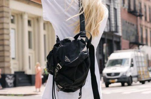 Prada vela nylon backpack