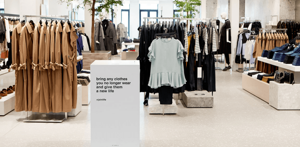 duurzame claim Zara kledinglijn