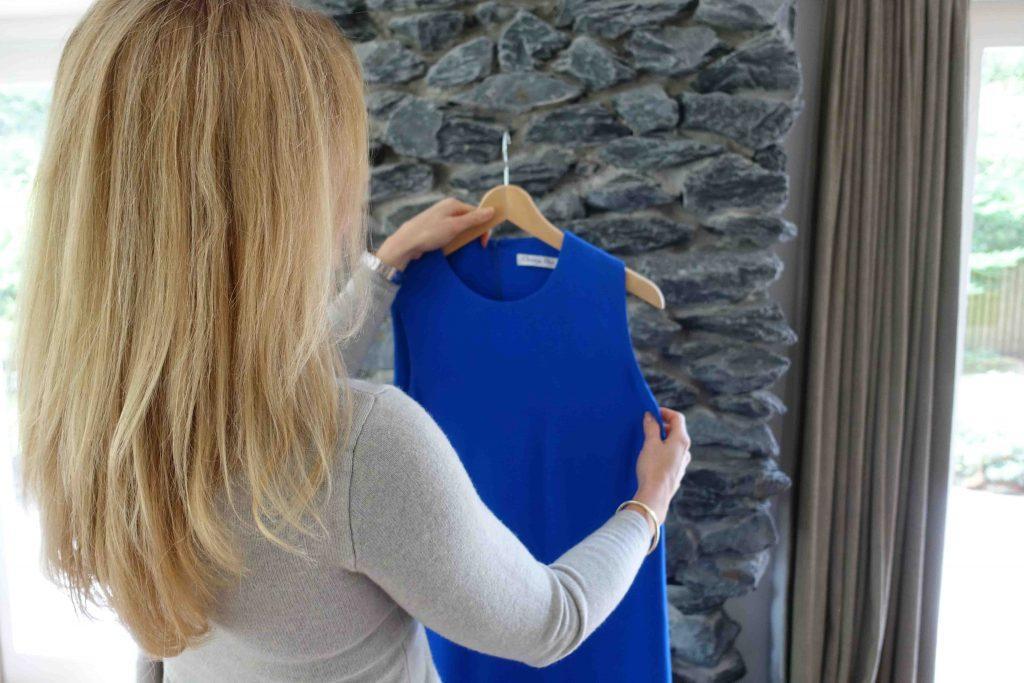 Sandra_boutique_WomensLux_Dior_jurk_blauw