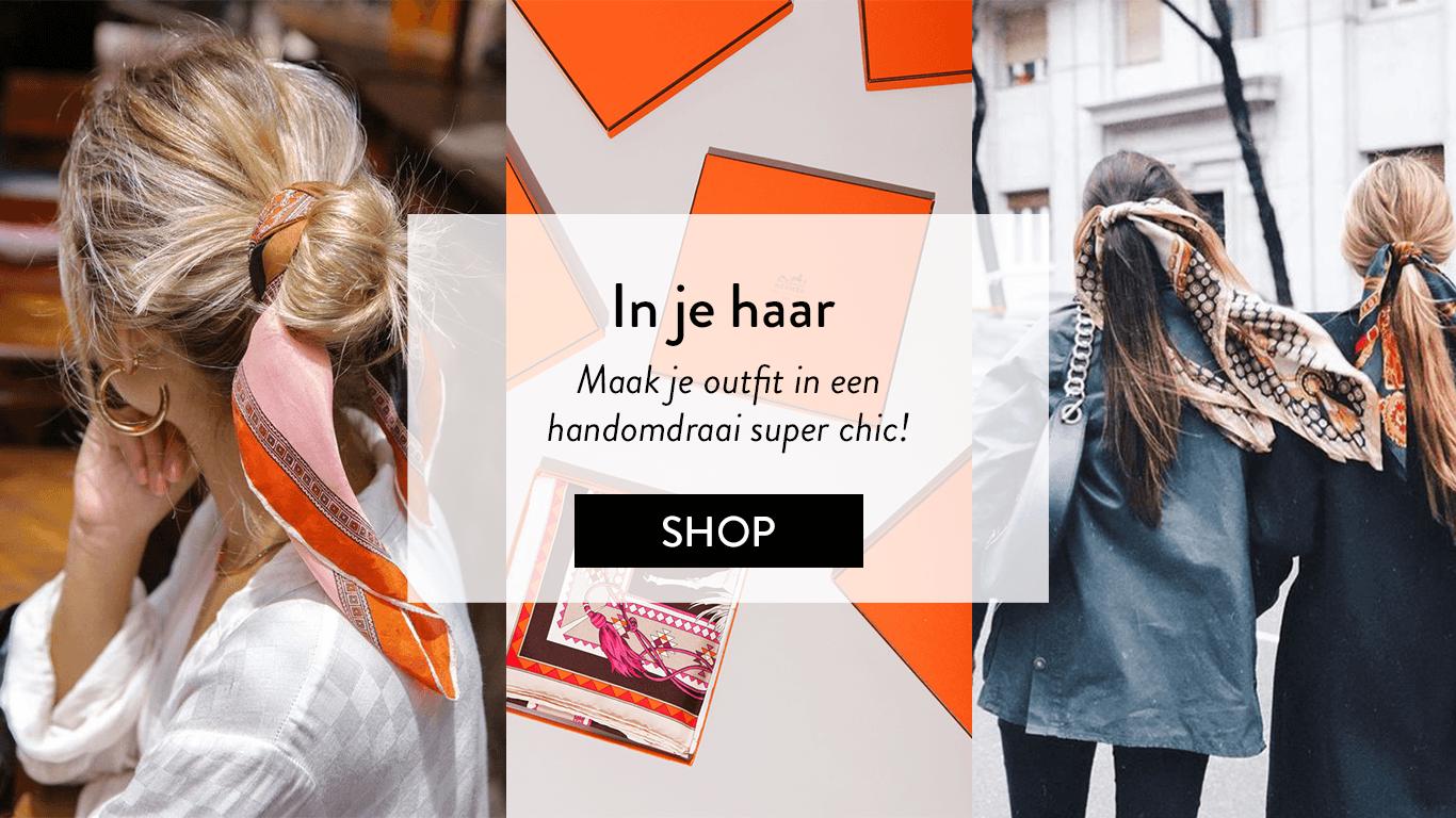 Hermès sjaal voor in je haar van The Next Closet